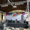 tablados, palcos e estrutura de luz